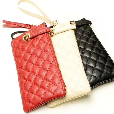 Taobao clearance Buy 2 Get 1 Lucky Lock Quilted Clutch Korean fashion ladies clutch bag purse