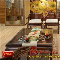 餐桌旗 床旗 桌布 茶几旗 桌垫 中式现代 地中海 东南亚 锦鸡定做