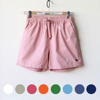 微胖女装 韩版糖果色女士短裤 宽松款松紧腰系带水洗棉休闲裤