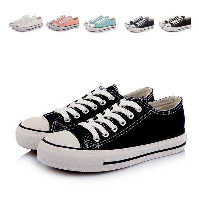 2014 autumn new low-top canvas shoes women shoes classic basic models