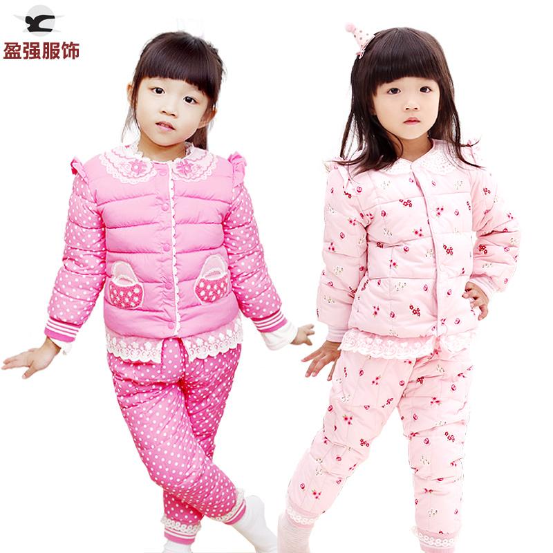 时尚保暖女童棉服婴幼儿童装中小童女孩棉袄内胆宝宝棉衣套装冬