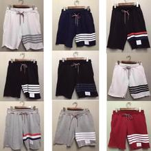 2015 thom movement of TB stripe thread beam foot tide of men and women lovers leisure pants knitting who BROWNE