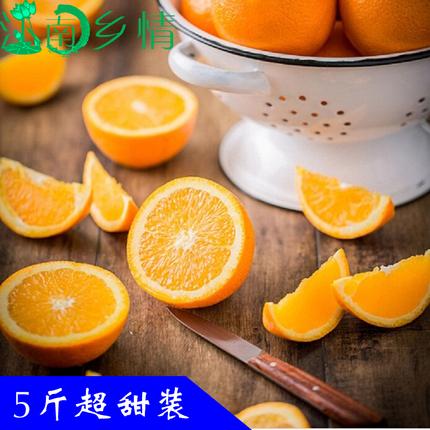 江南乡情 正宗赣南脐橙新鲜水果橙子5斤全国包邮 试吃小果