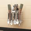 304不锈钢架厨房置物架用品壁挂式筷笼一体筷子具菜收纳架