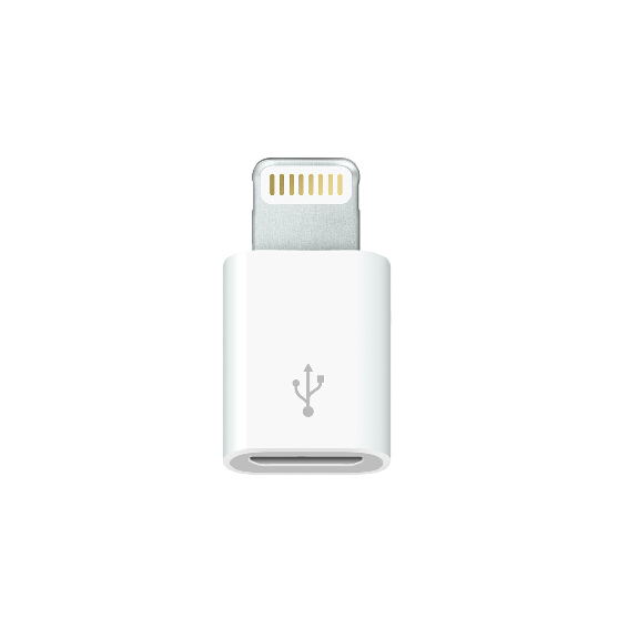苹果5一代Lightning to MicroUSB Adapter iphone5充电数据转接头