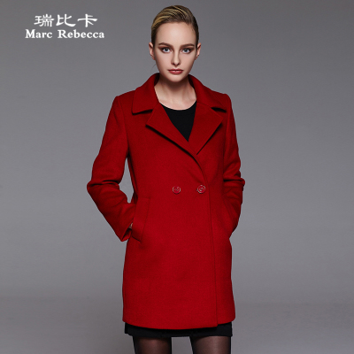 Rui Bika 2014 new winter coat long section of European and American big solid color wool coat coat it end