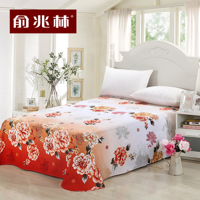 Yu Zhaolin cotton sheets is just one single piece of cotton increased thickening double printed sheets