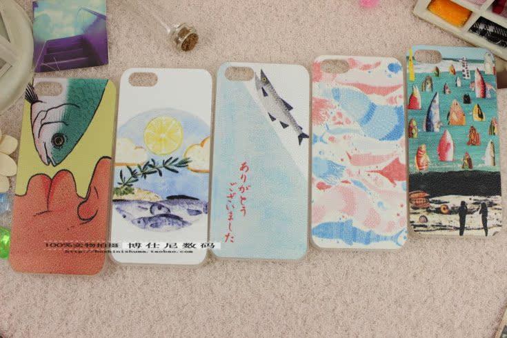 Apple чехол Японские Apple вентилятор в небе в диких рыб свежего лимона рыба рыба 5iphone5/5s/4S оригинальный сотовый телефон случае
