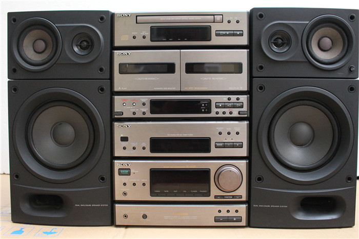 Japans Original Second Hand Stereo Sony FH E858 Classic Combination Bookshelf Loading Zoom