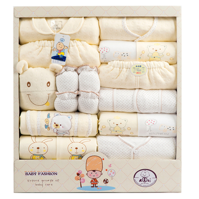 2014 people at the beginning of autumn and winter newborn baby gift Gift Set underwear / men Baby Piece Set
