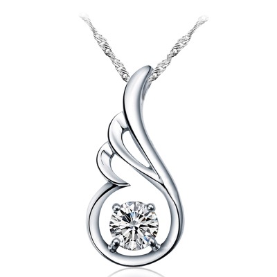 Silver Angel Wings oriented product 925 silver pendant necklace female models fashion accessories
