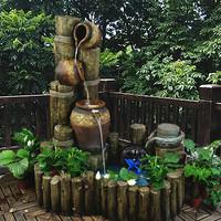 欧式家居喷泉流水鱼池水景工艺摆设饰品创意阳台别墅庭院摆件包邮