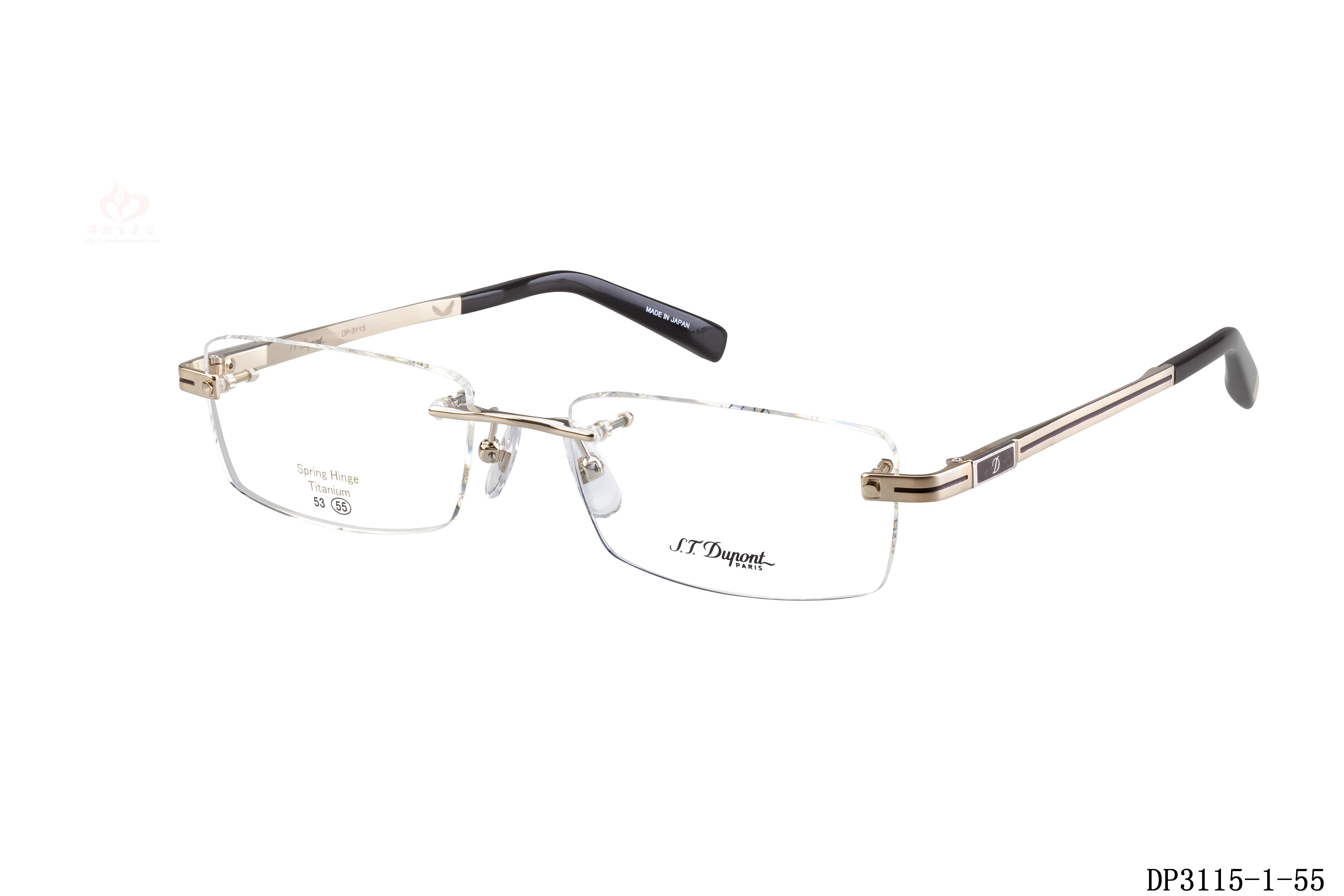 Genuine Dupont Mens frameless glasses frame myopia frames STDupont ...