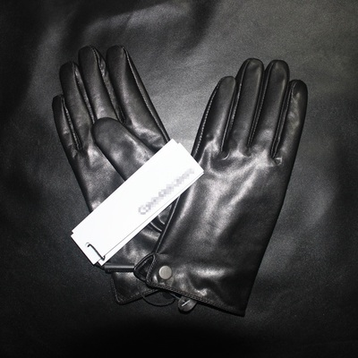 Genuine sheepskin gloves men drove Ms. velvet thick warm winter cycling thin leather gloves touchscreen models