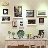 欧木格 进口实木照片墙 欧式相片墙 客厅相框墙 实木相片墙组合