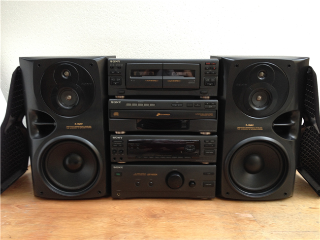 Imported Used A Computer Audio 90 Stereo LBT N550K Sony Bookshelf System New Loading Zoom