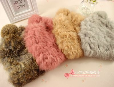 Special shipping hotwind hot autumn and winter fur hat rabbit female models dome warm hat knit hat
