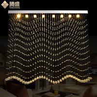 腾盛LED水晶灯长方形隔断灯珠帘水晶吊灯衣柜装饰灯客厅餐厅灯饰