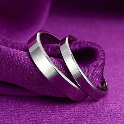 Love apartment glossy couple rings 925 silver couple rings Korean influx of people men and women rings lettering