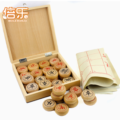 Free shipping large beech wood Chinese chess board 4.5cm upscale leather wooden toy wooden gifts