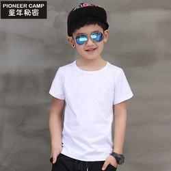 2017男童T恤短袖夏装纯棉中大童儿童纯色半袖宝宝新款男孩体恤衫