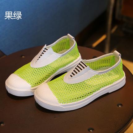 基兔2015韩版一脚蹬儿童帆布鞋