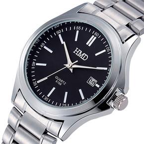 正品特价时尚潮流韩国石英表防水男士手表学生表复古日历腕表