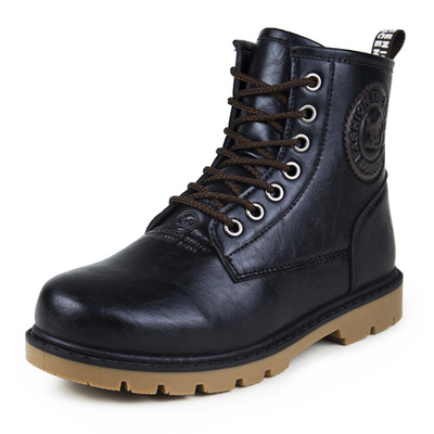 Winter plus velvet padded complex Guma Ding boots men boots tooling high-top shoes, casual shoes tide of England men shoes