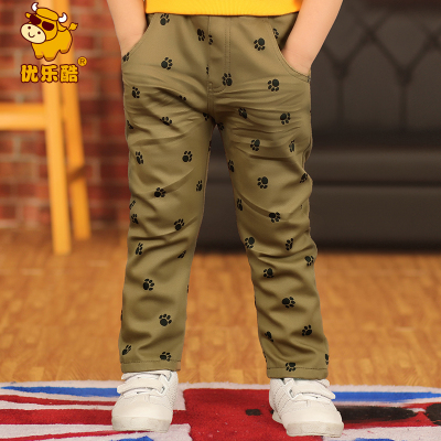 Excellent music cool Korean children's clothing baby boy pants pants trousers children thick winter 2014 ZR20112