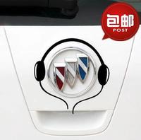 别克英朗GT/XT 新凯越 个性装饰贴 改装贴纸 音乐澳门十大博彩排行 耳机贴