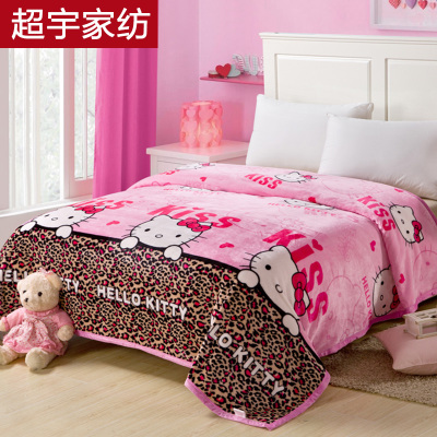 Special delivery gold spinning thick winter coral fleece blanket flannel blanket law Levin velvet double single
