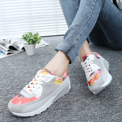New fall shoes flat shoes casual shoes thick crust student female Korean tidal n word Gump running shoes