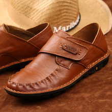 Spring men leisure shoes low soft bottom for bulk single male doug shoes the British tide breathable leather men's shoes