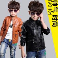 男童皮衣童装2015新款韩版儿童PU皮夹克中大童外套秋季上衣3-12岁