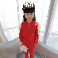 女童春秋装2015新款套装1-3岁女宝宝韩版长袖裤子时尚韩式儿童装