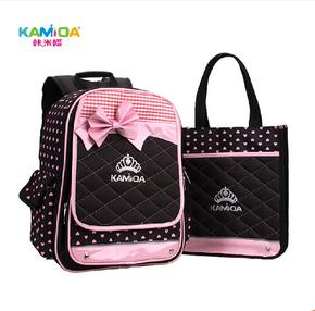 咔米嗒韩版儿童书包小学生1-3-6年级女童双肩背包护脊减负书包
