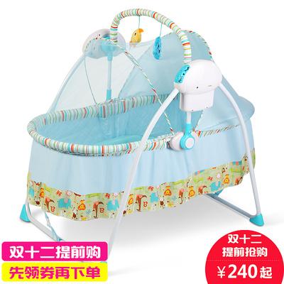 婴儿床摇床电动智能自动可折叠宝宝婴儿摇篮床新生儿带蚊帐摇摇床