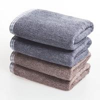 竹纤维毛巾 男士专用大气时尚简约毛巾 加大加厚吸水面巾洗脸毛巾