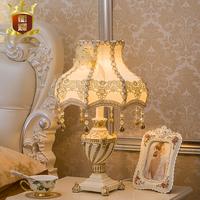 卧室台灯 创意酒店工程奢华客房书房古典复古装饰床头灯 欧式台灯