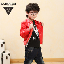 Michael kay bud boy leather children sports coat, boys Autumn outfit new cuhk children's wear cardigan