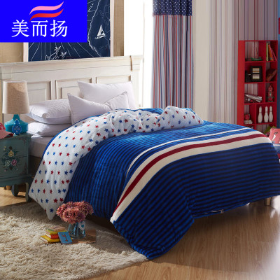 Young beauty law Levin thick warm velvet one-piece quilt quilt bedding single or double Specials