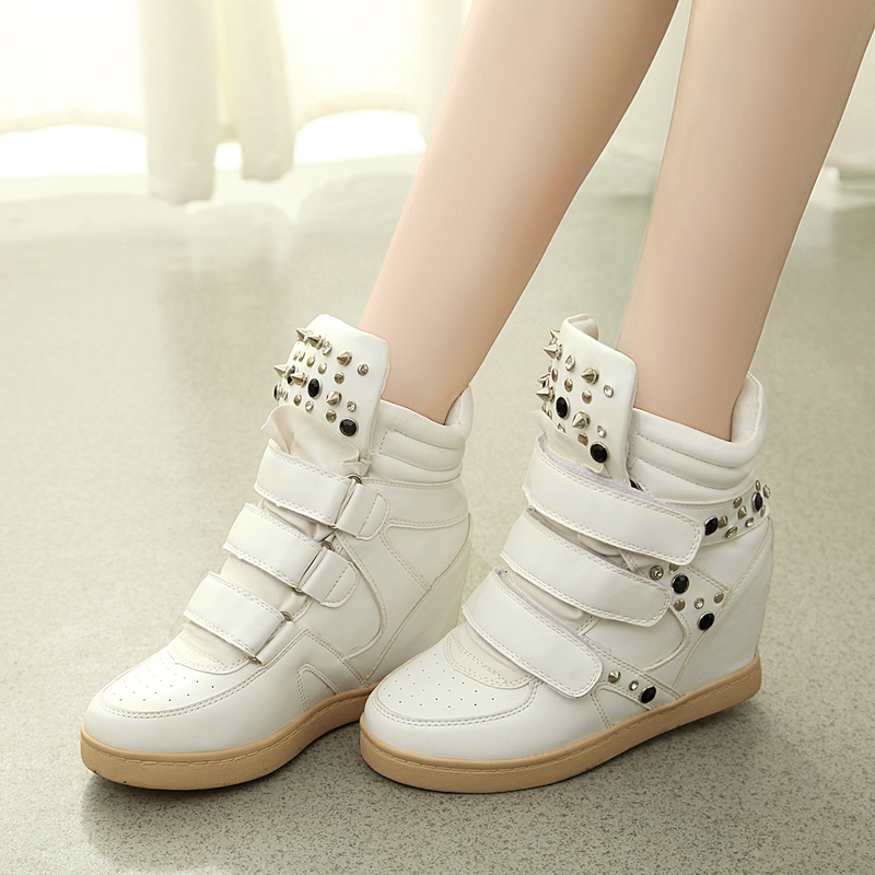 2014 new autumn and winter high-top shoes women shoes within the higher heavy-bottomed muffin shoes autumn Korean tidal shoes