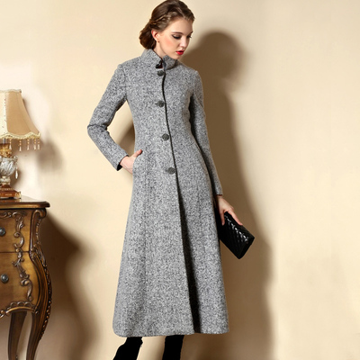 2014 new winter clothes garden pretty women in Europe and America temperament collar jacket coat long coat FY137