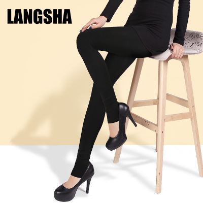 Fall and winter plus thick velvet backing socks step foot stockings Langsha warm leggings tights pilling even foot Pantyhose