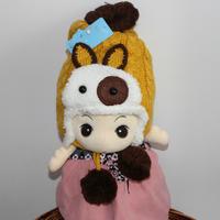 双12大促2-10岁冬款男女儿童帽子宝宝婴儿护耳毛球毛线帽加绒加厚