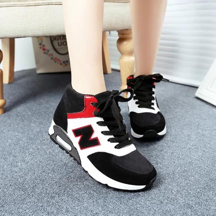 2014新款单鞋女鞋秋季平跟高帮休闲运动鞋松糕厚底黑白女潮鞋女款
