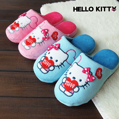 Ms. Kitty Hellokitty genuine parent-child models cotton slippers girls home floor shoes new winter shoes