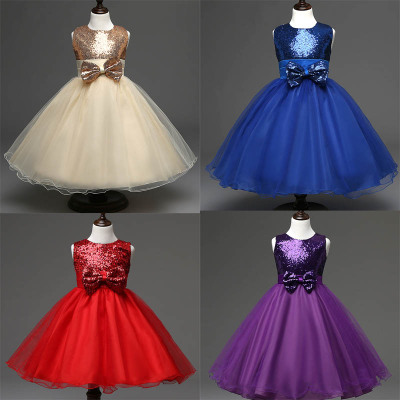 2016 girls' princess dress kids' evening party formal skirt