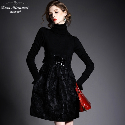 2015 spring and autumn and winter influx of new female Korean-Europe station winter skirt waist tutu dress child Mature simple ol