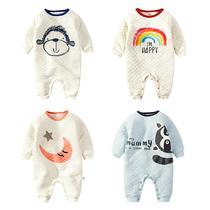 女婴儿连体衣服0岁3个月6宝宝1新生儿秋冬装冬季可爱秋季加厚睡衣
